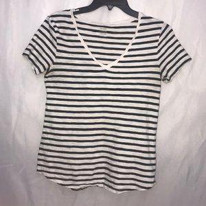 Old Navy striped T-shirt Black/White